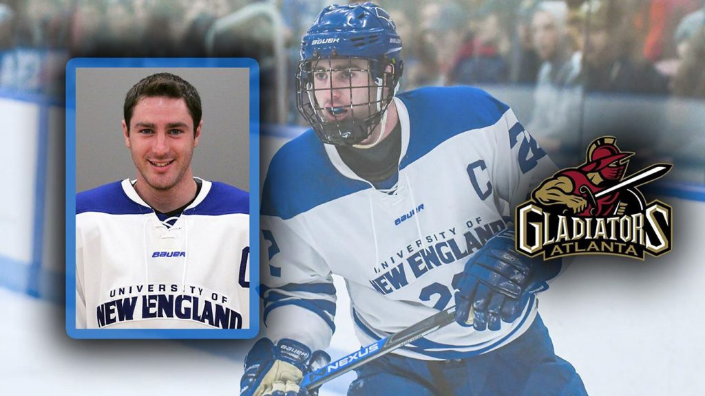 7935306299e ... of New England senior Brady Fleurent has signed a professional contract  with the Atlanta Gladiators