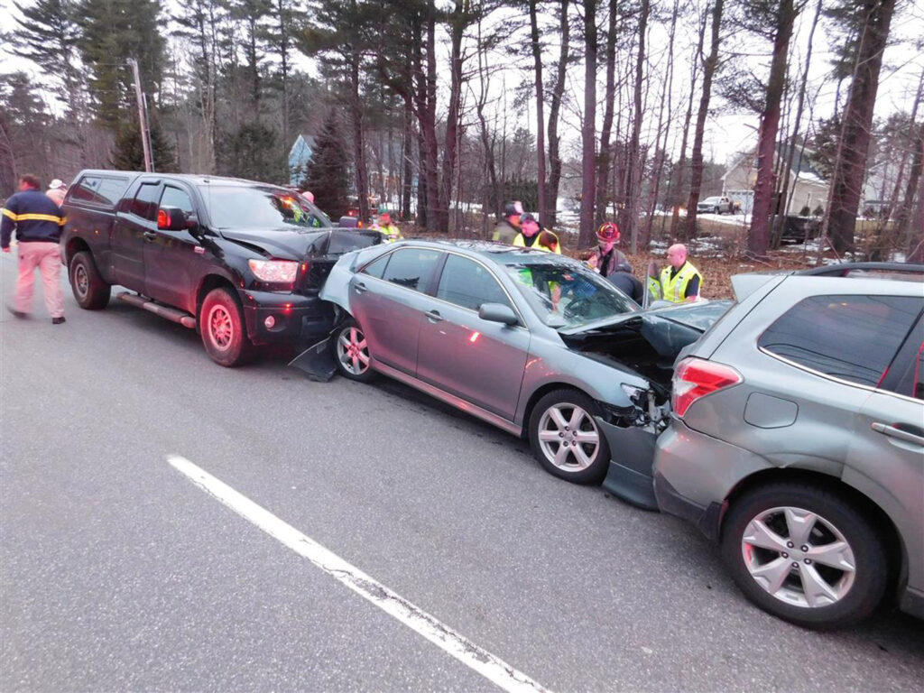 A Wells woman is facing charges in this chain-reaction crash on Old Post Road on Route 1 north in York on Wednesday.