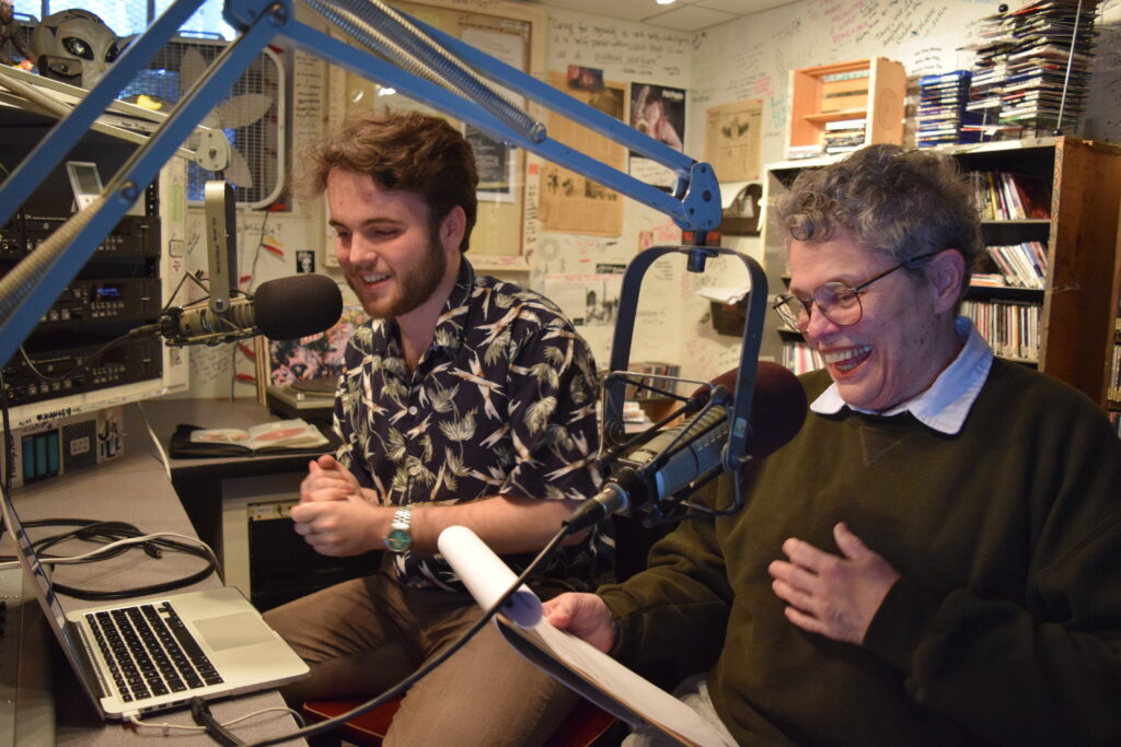 The Granny and the Romanian: Unlikely duo of a Bowdoin College student and a Brunswick octogenarian hit the airwaves