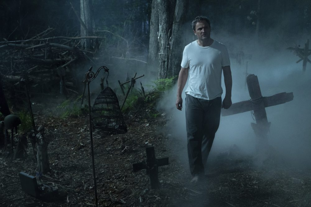 "This image released by Paramount Pictures shows Jason Clarke in a scene from ""Pet Sematary."""