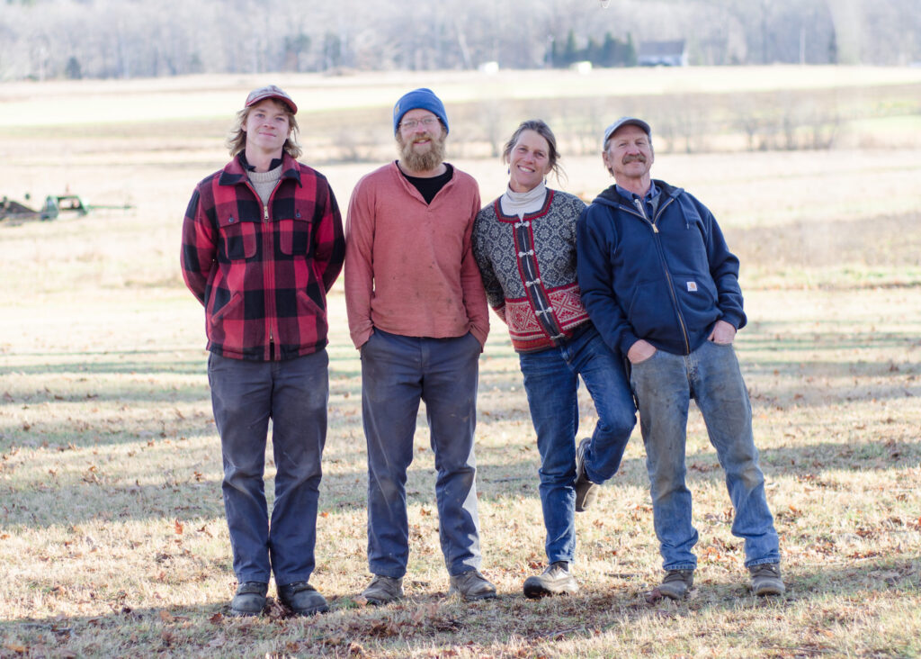 At award-winning Goranson Farm in Dresden, from left to right: Goran Johanson,  Carl Johanson, Jan Goranson and Rob Johanson. Photo courtesy of Kelsey Kobik (www.kelseykobik.com).