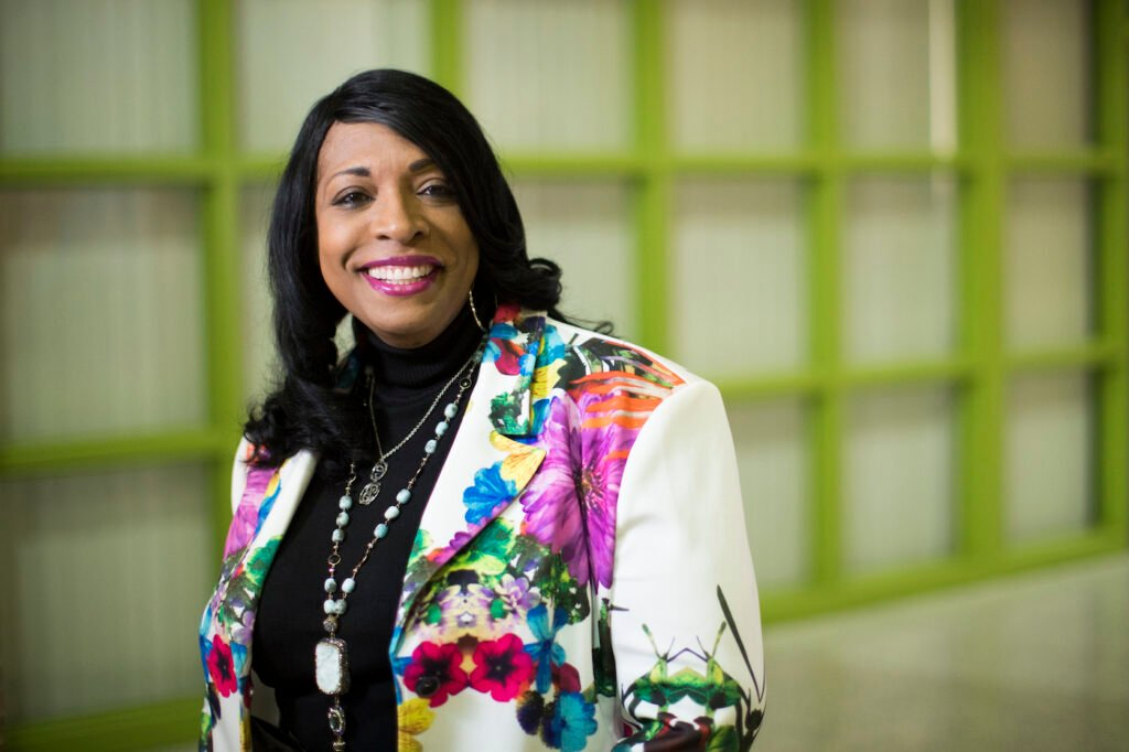 Carlotta Outley Brown, the principal at Peck Elementary School located in southeast Houston, photographed in 2018.