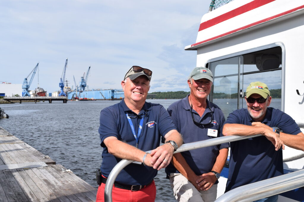 A look from the outside in: Former BIW workers leading tours of shipyard on water, land | The Times Record