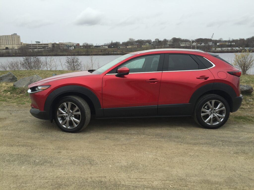 "Our reviewer writes, ""The CX-30 is a classy-looking alternative to the smaller CX3 and a smidge roomier than the 3-series hatchback."""