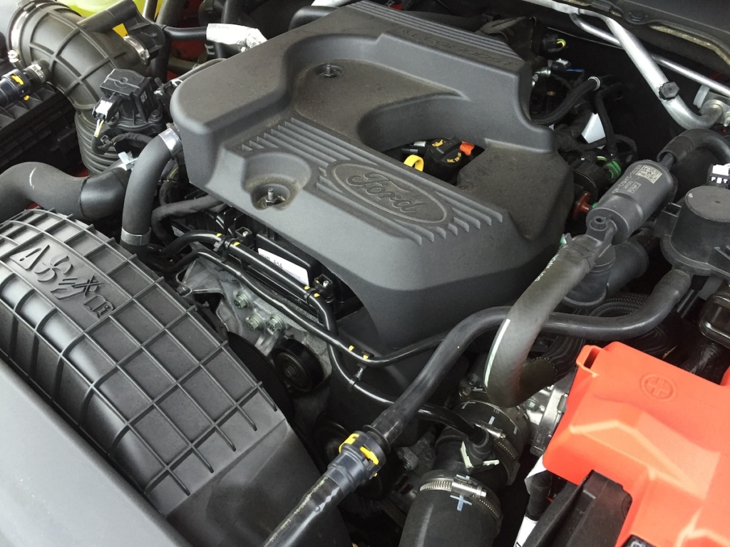 With the Ranger's performance, our reviewer says some drivers may be in disbelief that a small four cylinder rests under the hood, rather than a V-6.