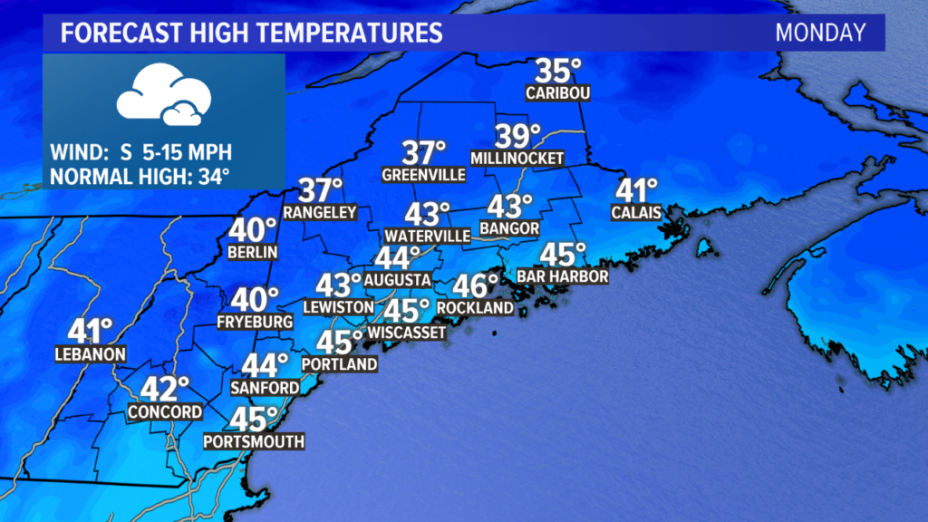 Mild Monday, colder Tuesday, tracking a storm for New Year's Eve