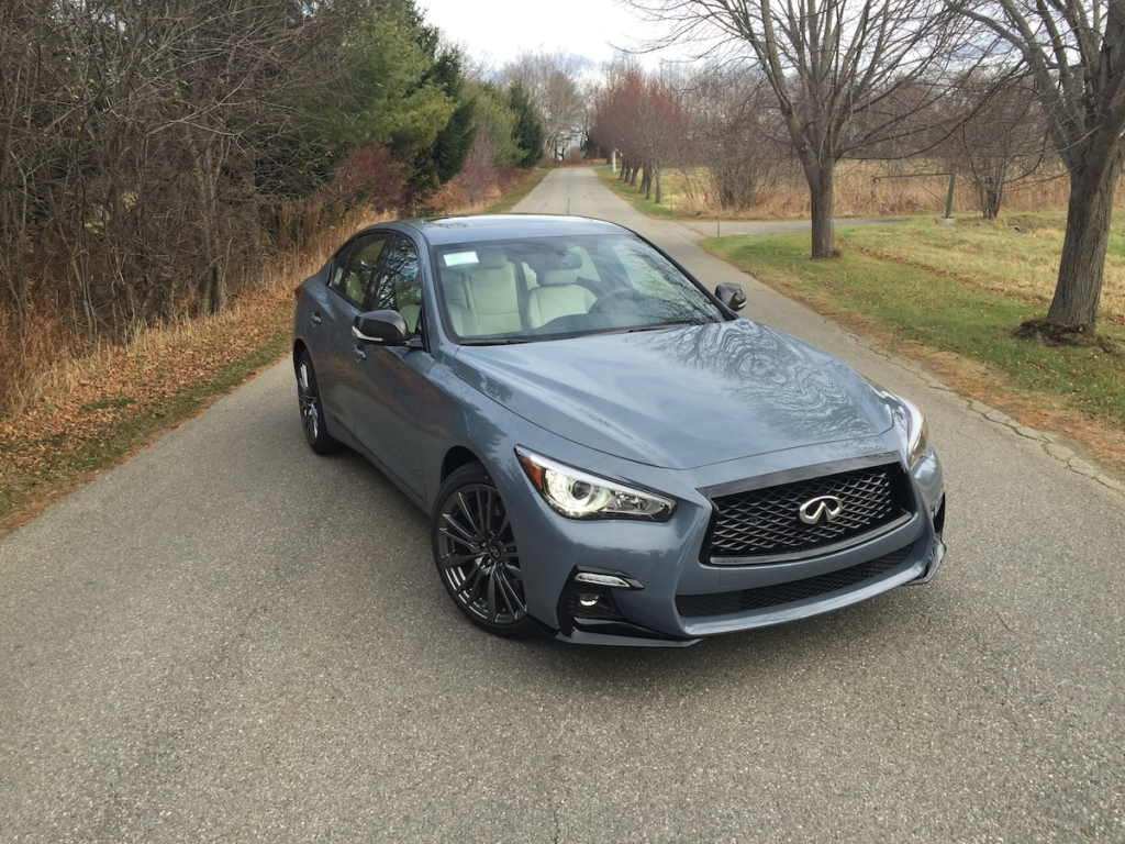 The Q50 sedan starts at $37,625 and comes in Pure, Luxe, Sensory and new Red Sport trim, reviewed here and priced at $56,775.