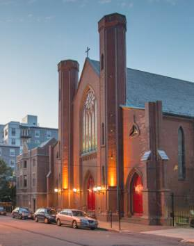The Chestnut Street Church one of the few remaining works by local architect Charles Alexander. In 1866, it survived the Great Fire that destroyed half of the city's churches and commercial buildings.