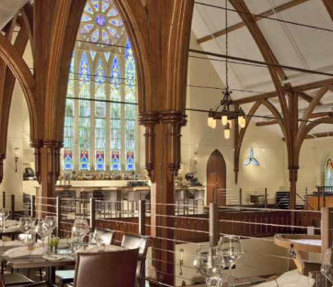 Grace is a nationally acclaimed restaurant and events venue in downtown Portland. It is housed in the Chestnut Street Church (1856).