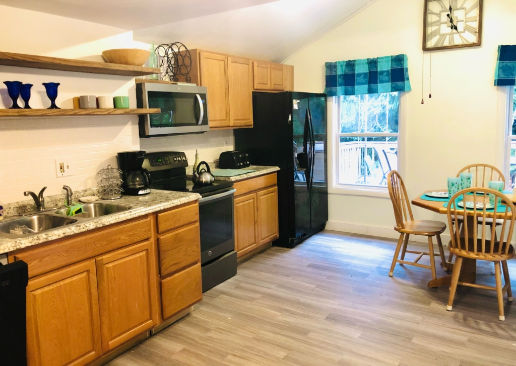 The upstairs kitchen at 13 Carll Ave., Old Orchard beach