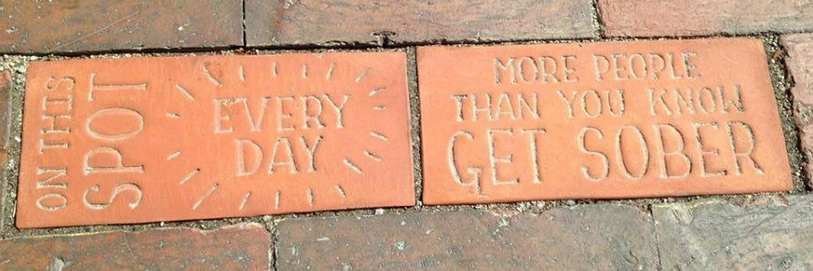 Portland Brick #15, by Ayumi Horie and Elise Pepple, is located just outside Milestone Recovery on India St.