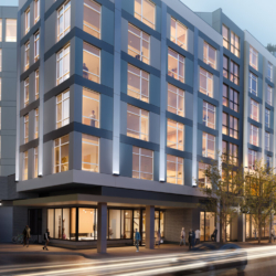 Rendering of 1122 West Chicago, a $33 million luxury multifamily development in downtown Chicago.
