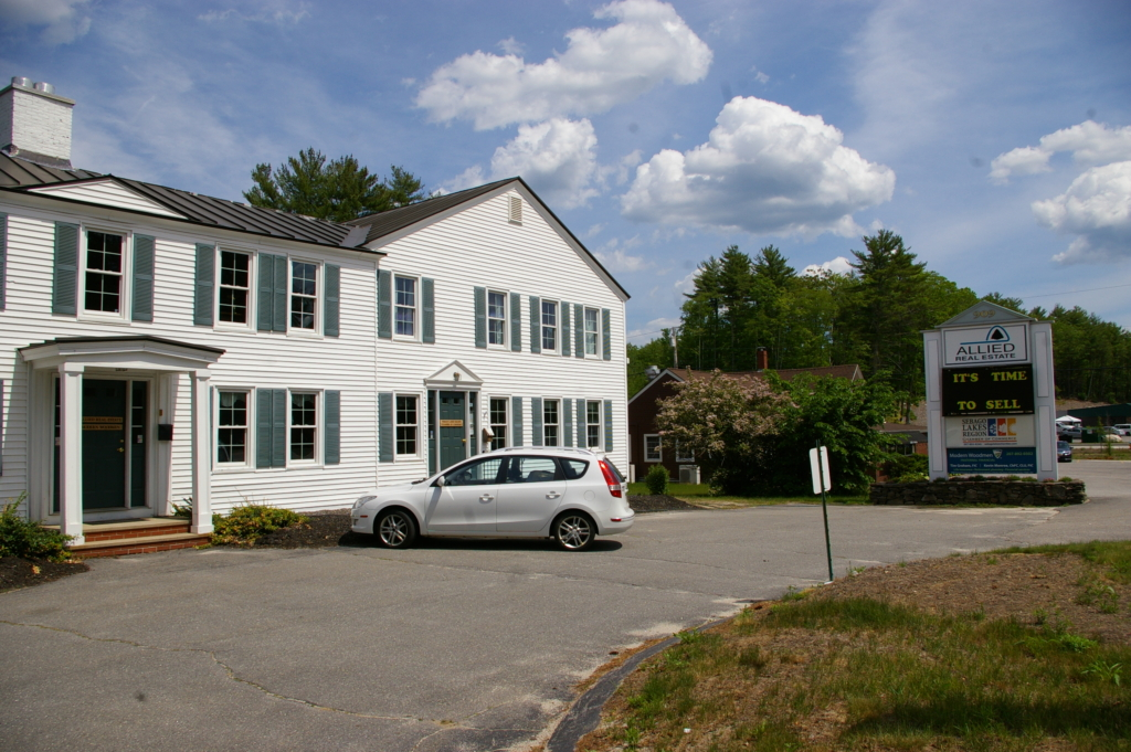The offices of Allied Real Estate are at 909 Roosevelt Trail, Windham, right at the doorstep of the Lakes Region.