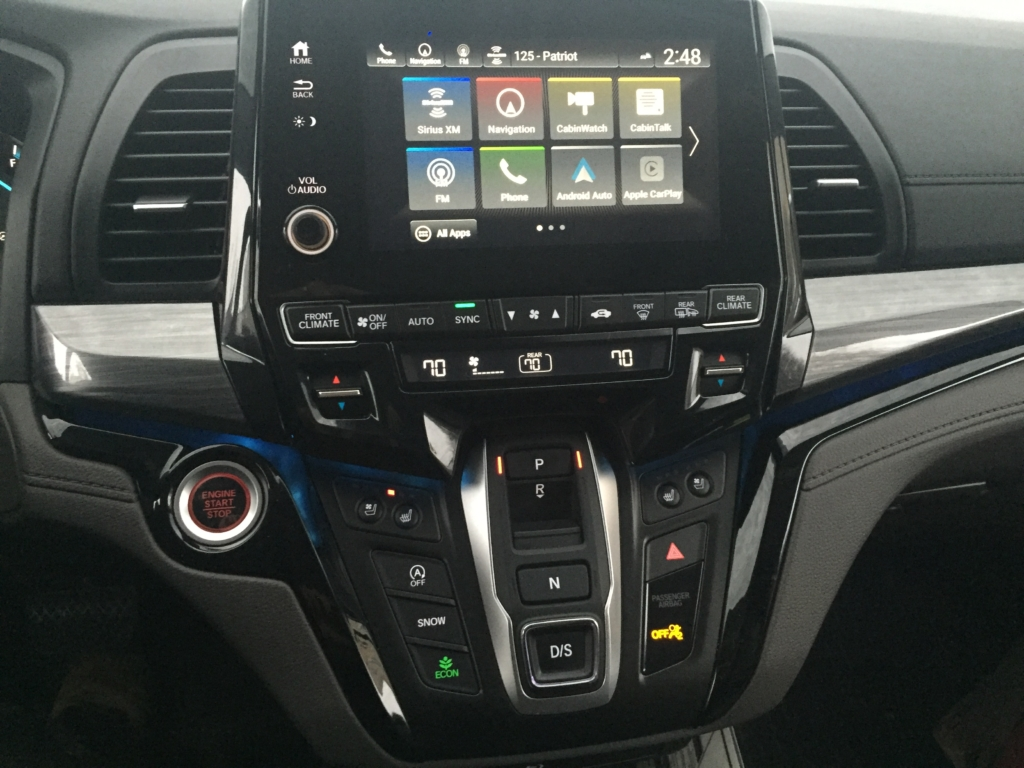 Elite trim brings Honda's Sensing portfolio of driving aids, as well as CabinWatch interior view monitor, plus a rear seat reminder signal upon exiting so that no one accidentally gets left behind.
