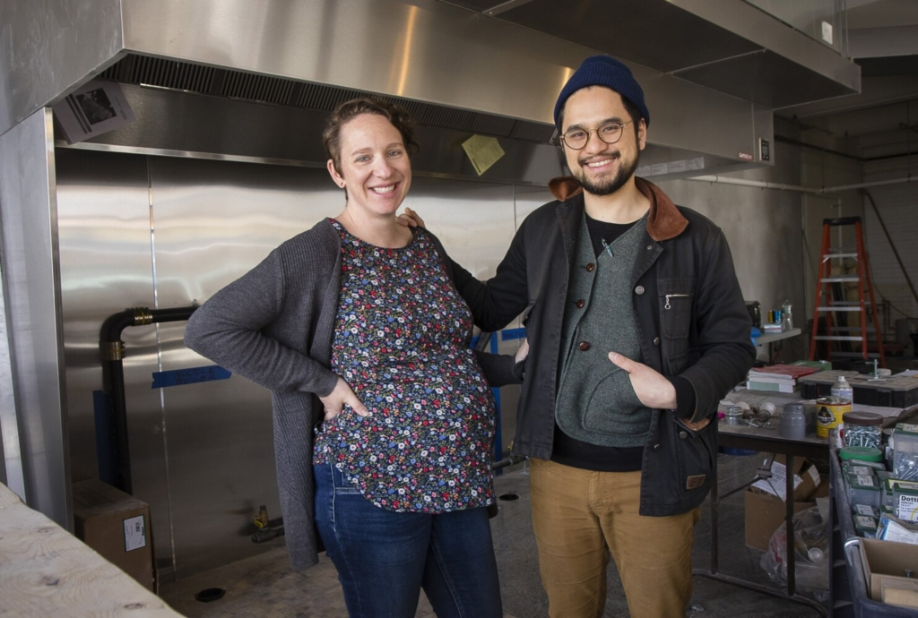 """Cong Tu Bot owners Jessica Sheahan and Vien Dobui are shown in 2017, shortly before Cong Tu Bot opened. The restaurant has just been listed by the New York Times among the """"50 most vibrant and delicious restaurants in 2021."""""""
