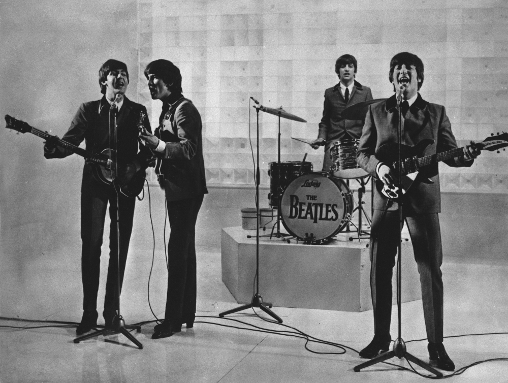 The Beatles, from left, Paul McCartney, George Harrison, Ringo Starr, and John Lennon. McCartney says it was John Lennon who wanted to disband The Beatles. (AP Photo)