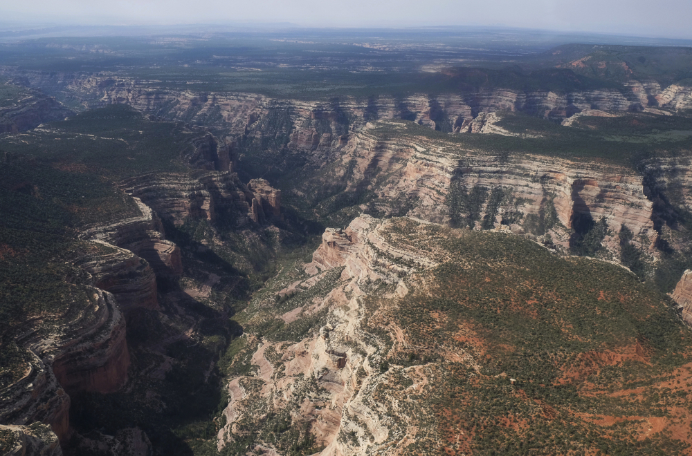 This 2017 aerial photo shows Arch Canyon in the Bears Ears National Monument in Utah.