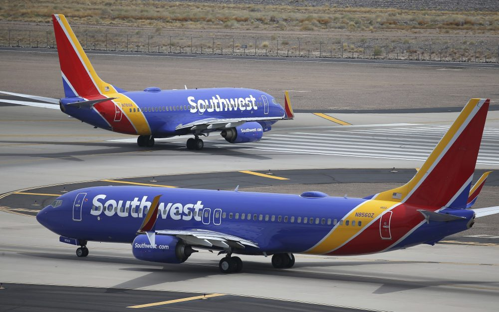 Southwest Airlines planes at Phoenix Sky Harbor International Airport